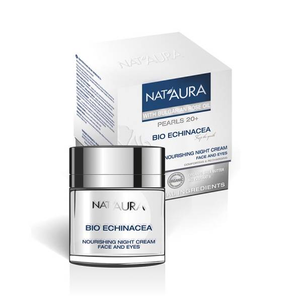 "Night cream for face and eye contour ""NAT'AURA"" 20+"