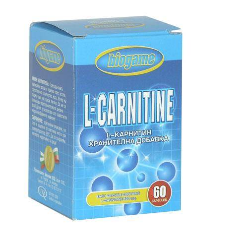 L-Carnitine BioGame 500 mg