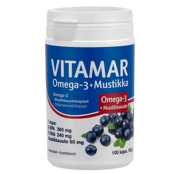 Vitamar Omega-3 + Bilberry 100 caps