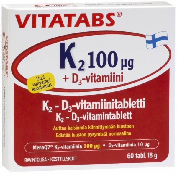 Vitatabs K2+D3 60tabs
